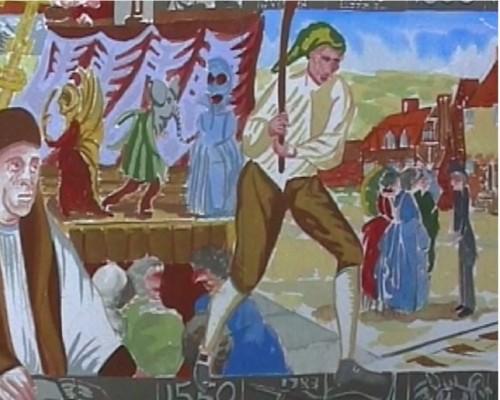 Village Mosaic - panel detail
