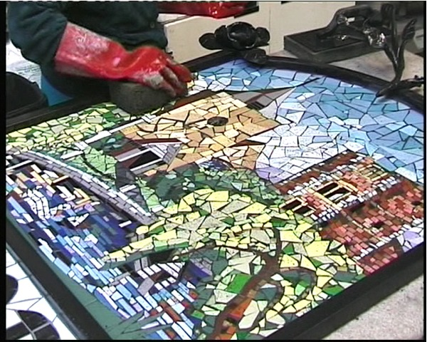 Otford Village Sign - finished mosaic