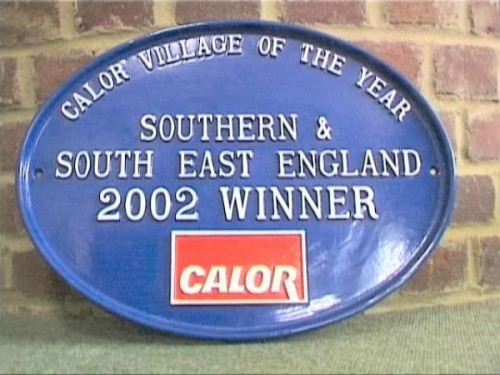 A village in Kent with a pond - not quite the overall winner, but we were pleased with this trophy