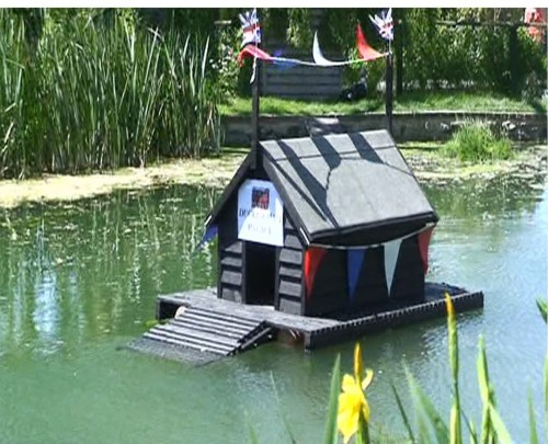 Otford Caught on Camera 2012 - our famous Duck House decorated for the Jubilee