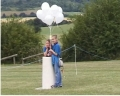Scale Model of the Solar System - the Guides, ready to release the balloons on opening day