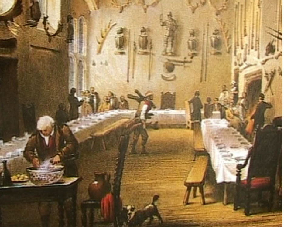 Vanished Palace of Otford - a typical banqueting hall where the tables would be removed after meals