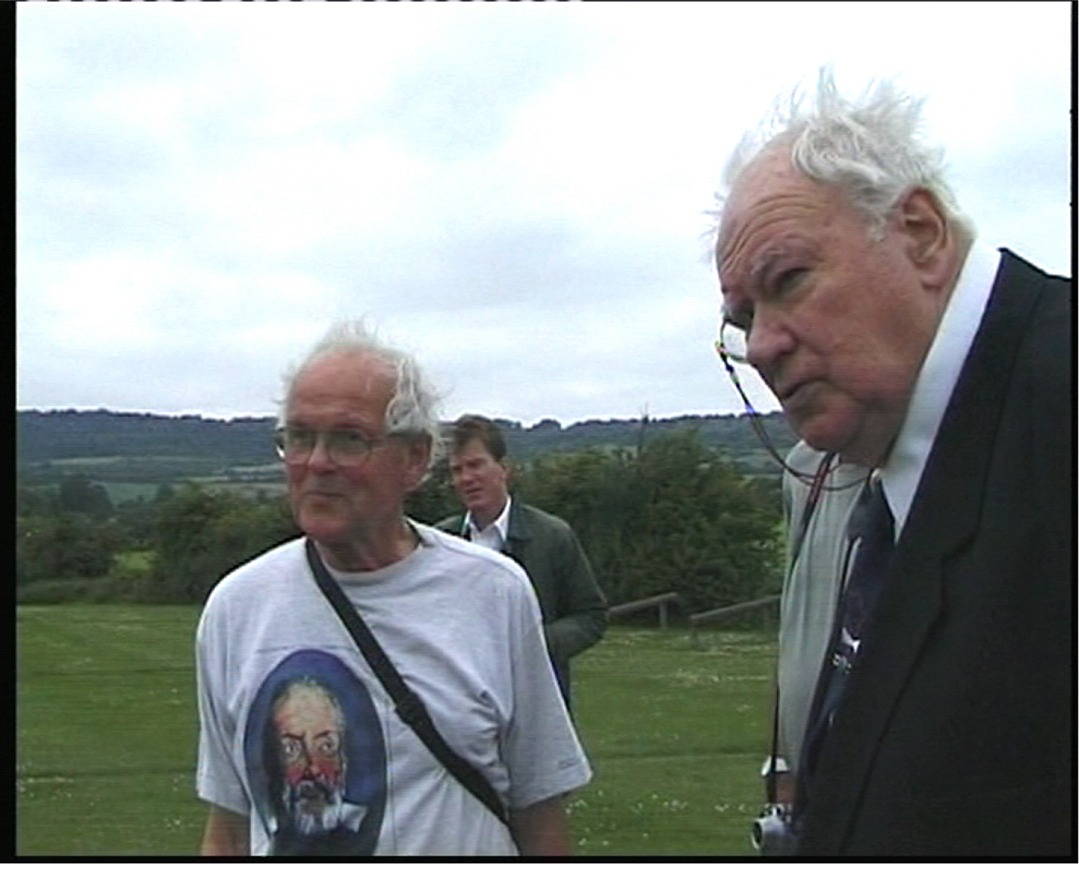 Otford's Celebrity Visitors - the late Sir Patrick Moore insisted on visiting every planet pillar