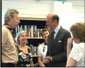 Otford's Celebrity Visitors - the Duke of Kent meets Scout and Guide leaders in the library